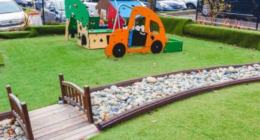 Living Montessori Playground Bridge, Car, And House Play Structures