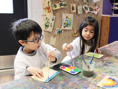 Arts In Action Specialty Campers Painting With Watercolors